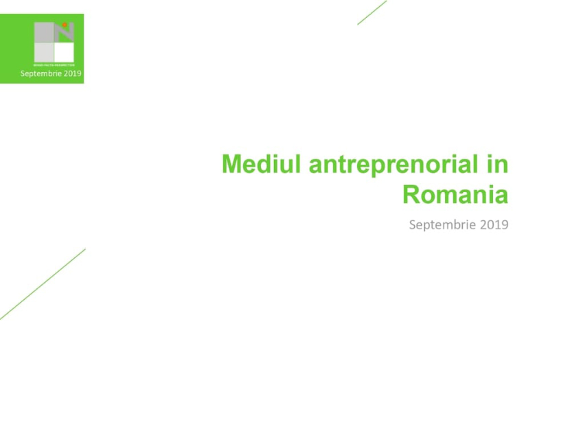 mediul antreprenorial in romania
